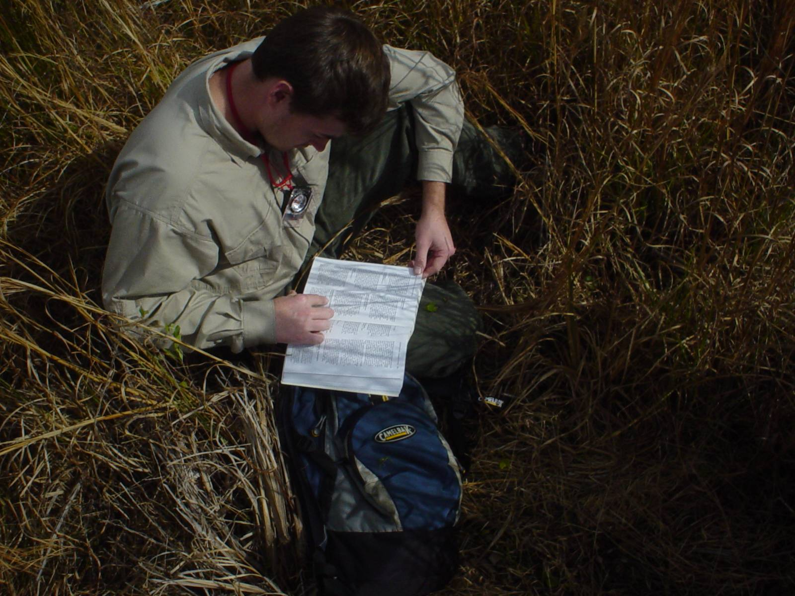 Jacob Thompson works in the field.