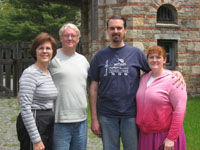 Tim & Candy with Tim's Parents in Acadia National Park