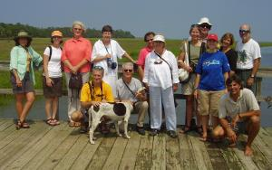 Photo of TERN board members and DNR staff at Ossabaw Island.