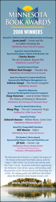 Minnesota Book Awards free bookmark