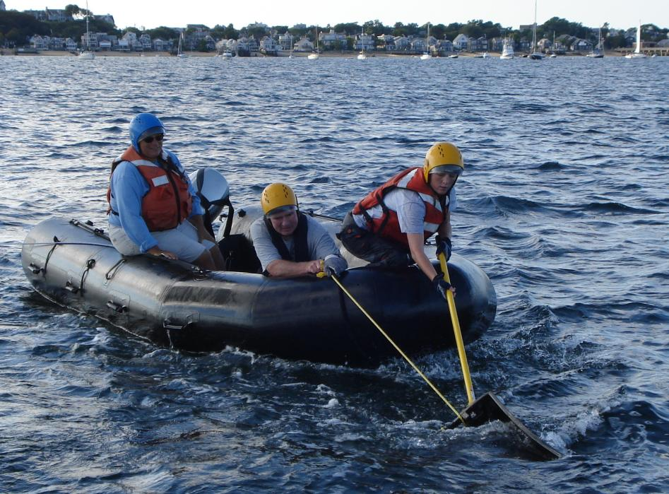 Photo of training for disentangling right whales.