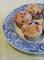 emmer banana blueberry muffins 