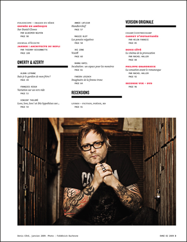 OVNI Magazine no 02, sommaire, p.3
