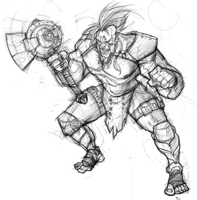 This fellow is an Apoc Churl Berzerker! Gnarly, huh?